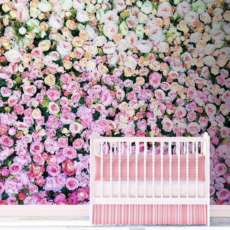 Wall Of The Roses Mural - Trendy Custom Wallpaper | Contemporary Wallpaper Designs | The Detroit Wallpaper Co.