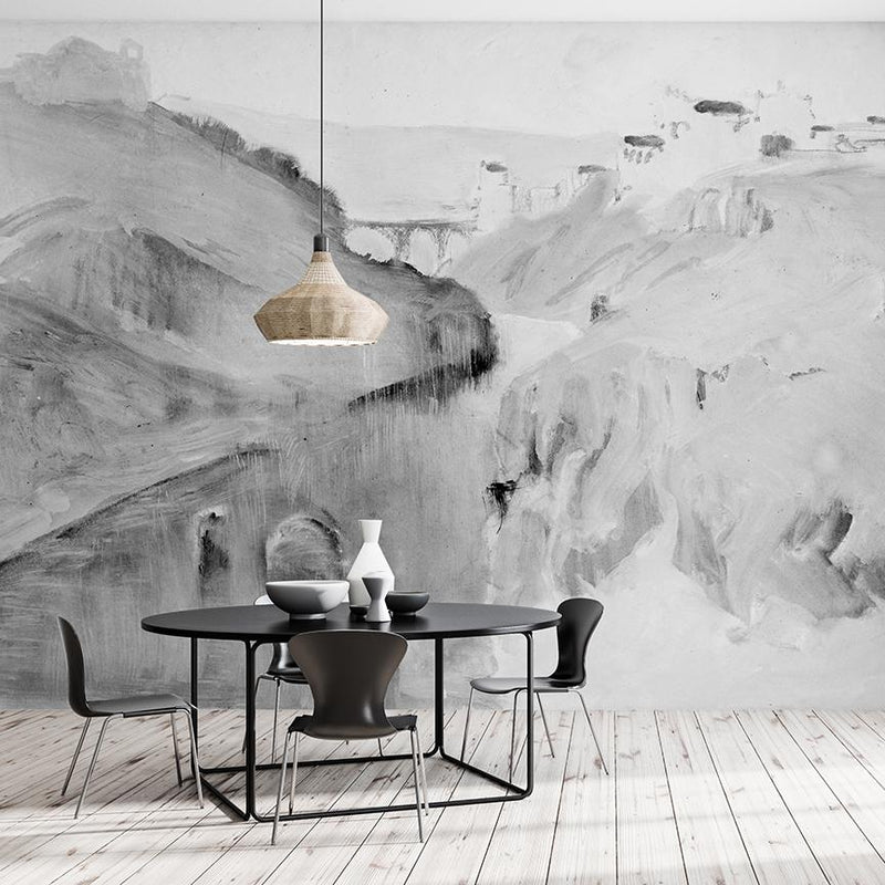 Washed Riverbank <br> Great Wall - Trendy Custom Wallpaper | Contemporary Wallpaper Designs | The Detroit Wallpaper Co.