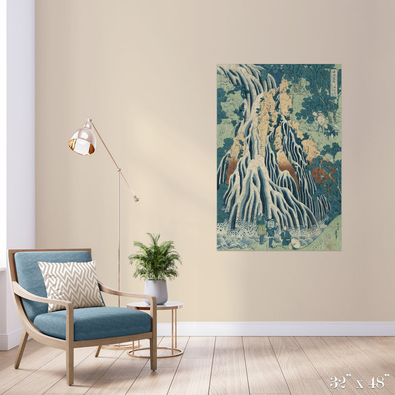 Waterfall Colossal Art Print - Trendy Custom Wallpaper | Contemporary Wallpaper Designs | The Detroit Wallpaper Co.