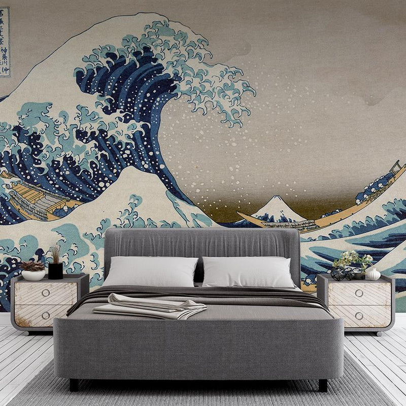Wave Mural - Trendy Custom Wallpaper | Contemporary Wallpaper Designs | The Detroit Wallpaper Co.