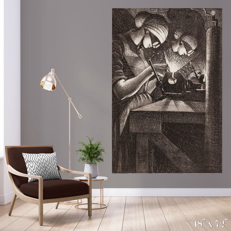 Weld Colossal Art Print - Trendy Custom Wallpaper | Contemporary Wallpaper Designs | The Detroit Wallpaper Co.