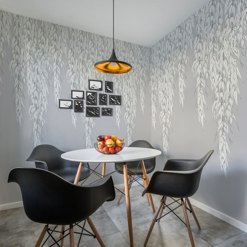 Willow - Frost - Trendy Custom Wallpaper | Contemporary Wallpaper Designs | The Detroit Wallpaper Co.