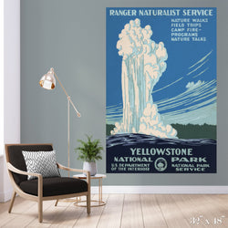 Yellowstone National Park Colossal Art Print - Trendy Custom Wallpaper | Contemporary Wallpaper Designs | The Detroit Wallpaper Co.