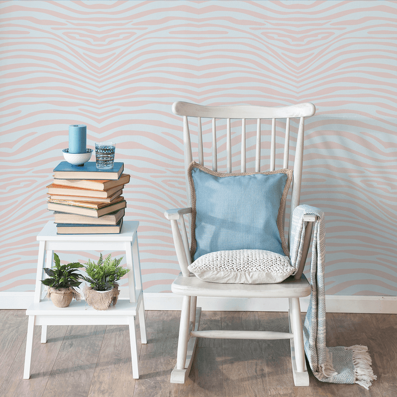 Zebra Dream - Fantasy - Trendy Custom Wallpaper | Contemporary Wallpaper Designs | The Detroit Wallpaper Co.