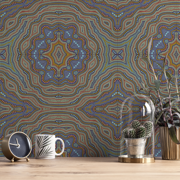 Aboriginal - Boomerang - Trendy Custom Wallpaper | Contemporary Wallpaper Designs | The Detroit Wallpaper Co.
