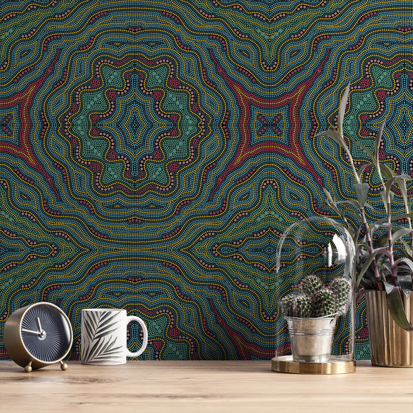Aboriginal - Dingo - The Detroit Wallpaper Co.