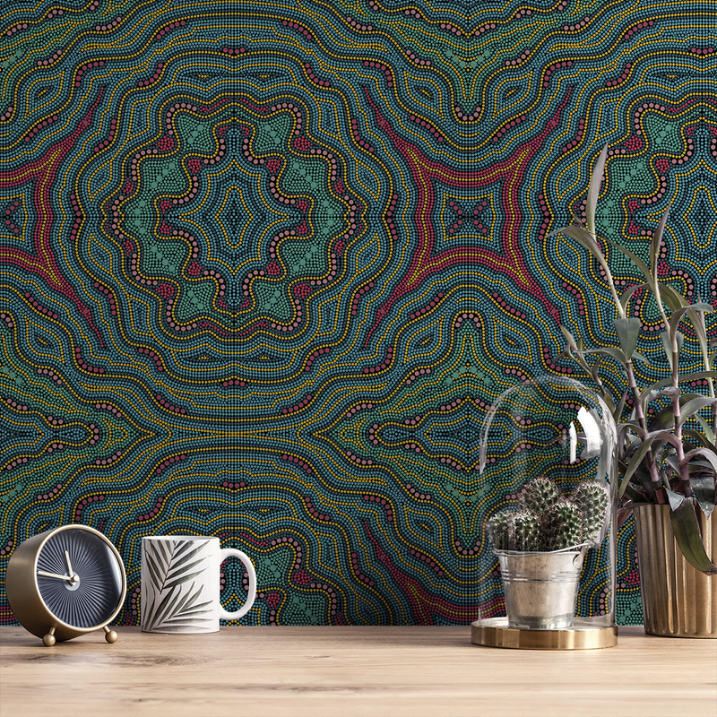 Aboriginal - Dingo - Trendy Custom Wallpaper | Contemporary Wallpaper Designs | The Detroit Wallpaper Co.