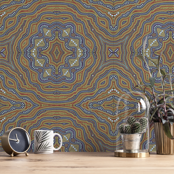 Aboriginal - Joey - Trendy Custom Wallpaper | Contemporary Wallpaper Designs | The Detroit Wallpaper Co.