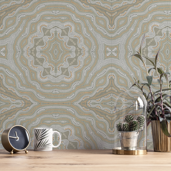 Aboriginal - Kangaroo - Trendy Custom Wallpaper | Contemporary Wallpaper Designs | The Detroit Wallpaper Co.