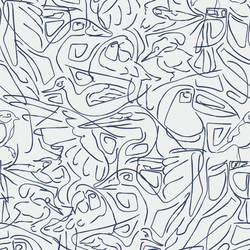 Aviary - Flight - Trendy Custom Wallpaper | Contemporary Wallpaper Designs | The Detroit Wallpaper Co.