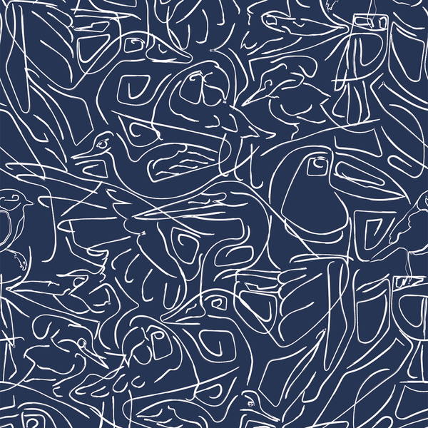 Aviary - Placid - Trendy Custom Wallpaper | Contemporary Wallpaper Designs | The Detroit Wallpaper Co.
