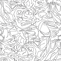 Aviary - Sketch - Trendy Custom Wallpaper | Contemporary Wallpaper Designs | The Detroit Wallpaper Co.