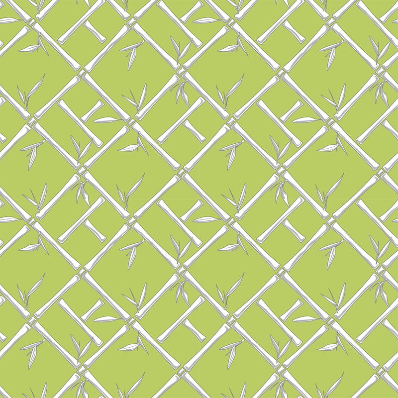 Bamboo - Asparagus - Trendy Custom Wallpaper | Contemporary Wallpaper Designs | The Detroit Wallpaper Co.