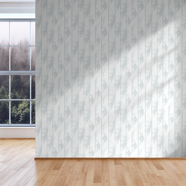 Banana Palm - Ghost - Trendy Custom Wallpaper | Contemporary Wallpaper Designs | The Detroit Wallpaper Co.