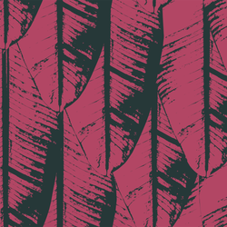 Banana Palm - Ruby - Trendy Custom Wallpaper | Contemporary Wallpaper Designs | The Detroit Wallpaper Co.