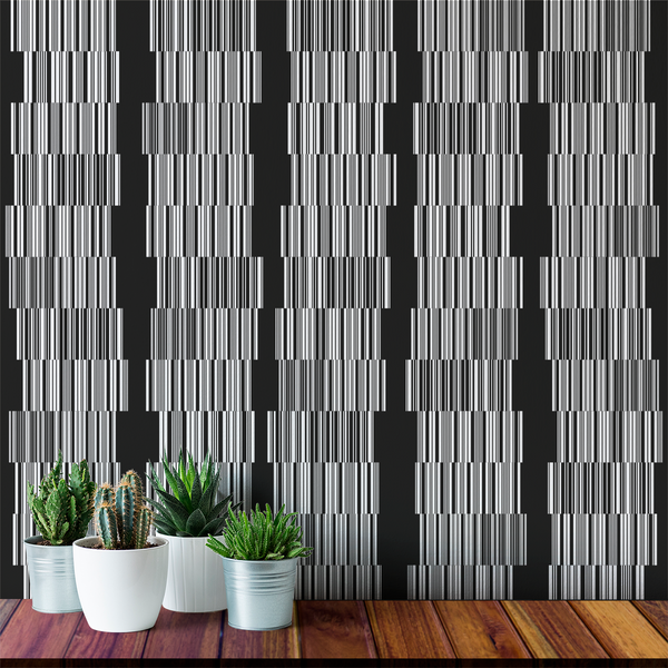 Barcode - Black Friday - Trendy Custom Wallpaper | Contemporary Wallpaper Designs | The Detroit Wallpaper Co.