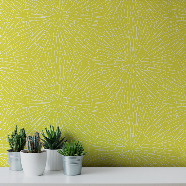 Basket - Sunny <br> Victoria Larson - Trendy Custom Wallpaper | Contemporary Wallpaper Designs | The Detroit Wallpaper Co.