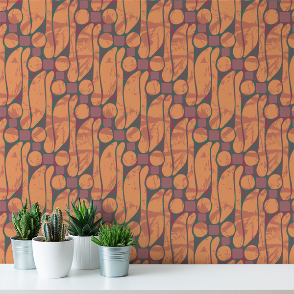 Batik - Serengeti - Trendy Custom Wallpaper | Contemporary Wallpaper Designs | The Detroit Wallpaper Co.