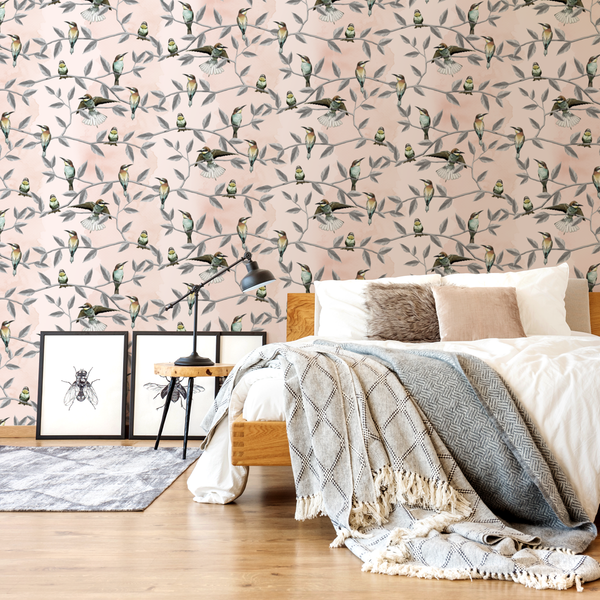 Bee Eater-2 - Trendy Custom Wallpaper | Contemporary Wallpaper Designs | The Detroit Wallpaper Co.
