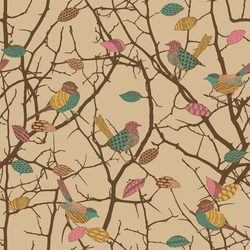 Birdz - Robin - Trendy Custom Wallpaper | Contemporary Wallpaper Designs | The Detroit Wallpaper Co.