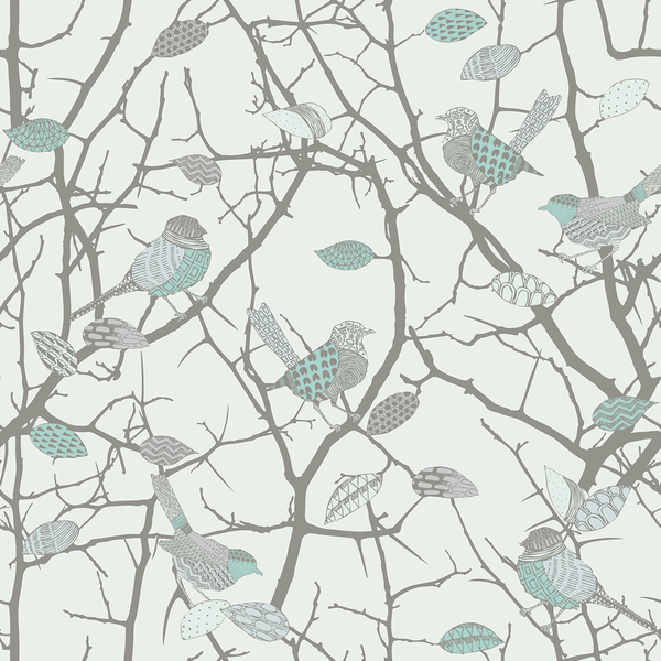 Birdz - Sparrow - Trendy Custom Wallpaper | Contemporary Wallpaper Designs | The Detroit Wallpaper Co.
