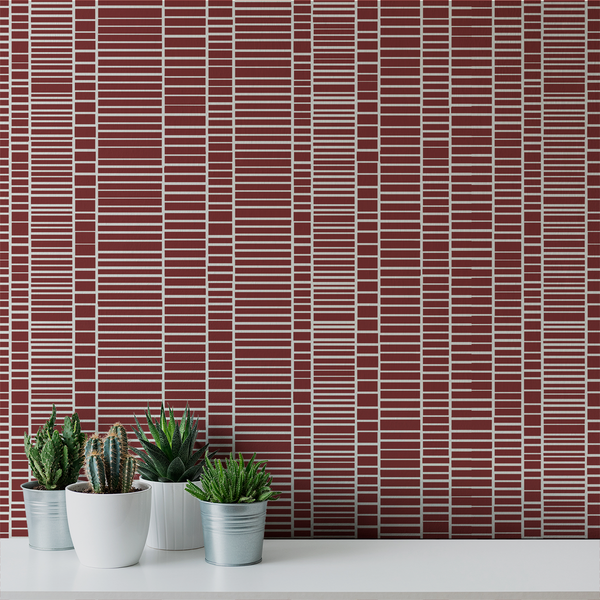 Blockhead - Brick - Trendy Custom Wallpaper | Contemporary Wallpaper Designs | The Detroit Wallpaper Co.