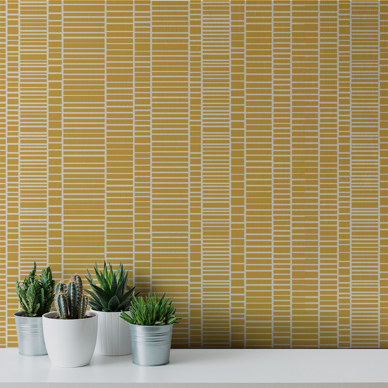 Blockhead - Oz - Trendy Custom Wallpaper | Contemporary Wallpaper Designs | The Detroit Wallpaper Co.