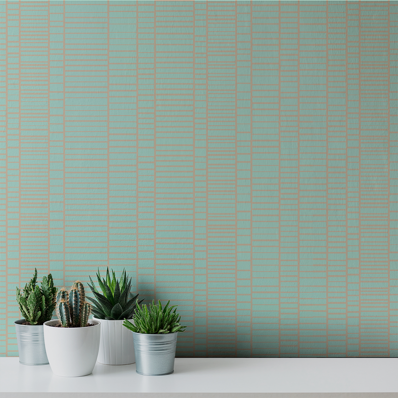 Blockhead - Tile - Trendy Custom Wallpaper | Contemporary Wallpaper Designs | The Detroit Wallpaper Co.