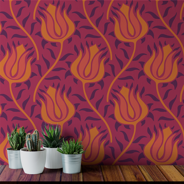 Budding - India - Trendy Custom Wallpaper | Contemporary Wallpaper Designs | The Detroit Wallpaper Co.