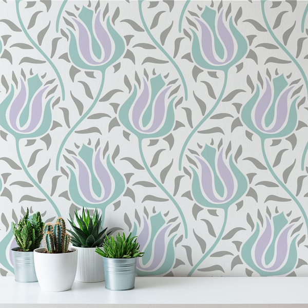 Budding - Peel and Stick Wallpaper - Trendy Custom Wallpaper | Contemporary Wallpaper Designs | The Detroit Wallpaper Co.