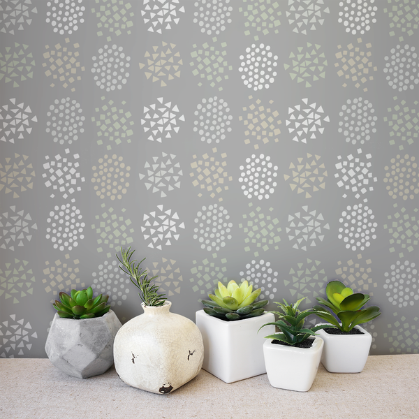 Burst - Mineral <br> Elizabeth Salonen - Trendy Custom Wallpaper | Contemporary Wallpaper Designs | The Detroit Wallpaper Co.