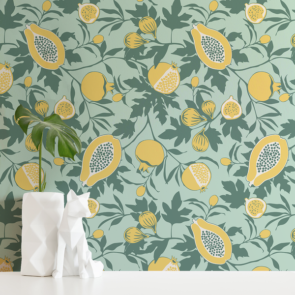 Calimyrna - Minty - Trendy Custom Wallpaper | Contemporary Wallpaper Designs | The Detroit Wallpaper Co.