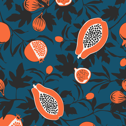 Calimyrna - Papaya - Trendy Custom Wallpaper | Contemporary Wallpaper Designs | The Detroit Wallpaper Co.