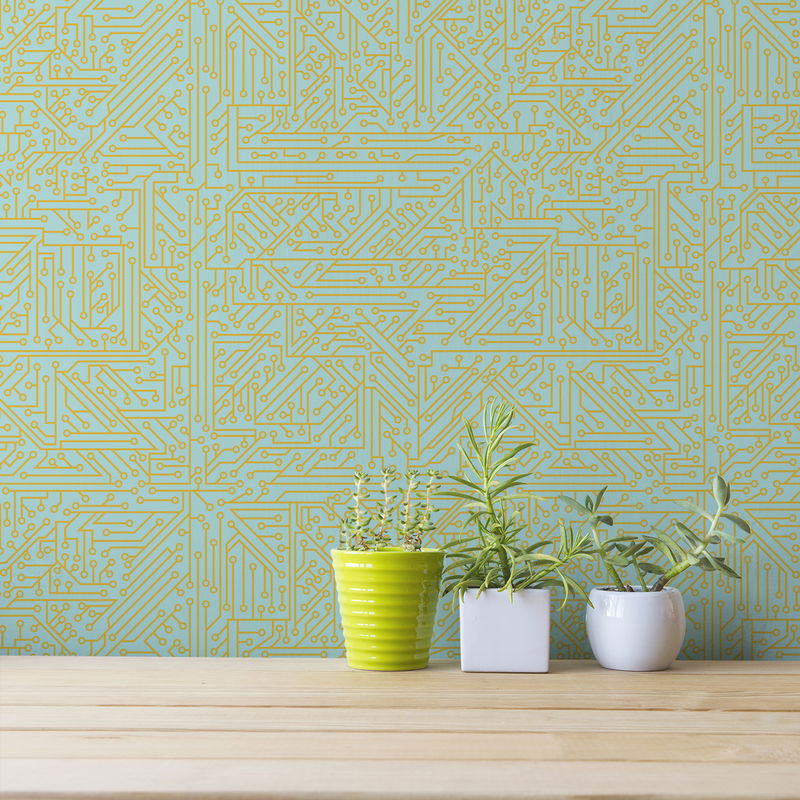 Circuit Board - Start Up - Trendy Custom Wallpaper | Contemporary Wallpaper Designs | The Detroit Wallpaper Co.