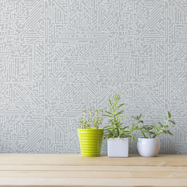 Circuit Board - VC - Trendy Custom Wallpaper | Contemporary Wallpaper Designs | The Detroit Wallpaper Co.