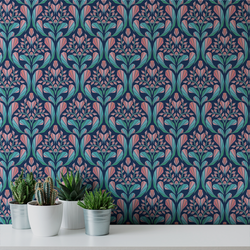 Cora - Peel and Stick Wallpaper - Trendy Custom Wallpaper | Contemporary Wallpaper Designs | The Detroit Wallpaper Co.