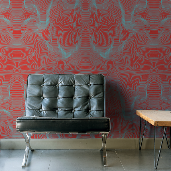 Crinkle - 3D - Trendy Custom Wallpaper | Contemporary Wallpaper Designs | The Detroit Wallpaper Co.