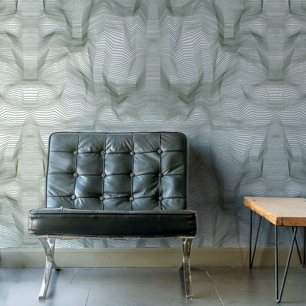 Crinkle - Topo - Trendy Custom Wallpaper | Contemporary Wallpaper Designs | The Detroit Wallpaper Co.