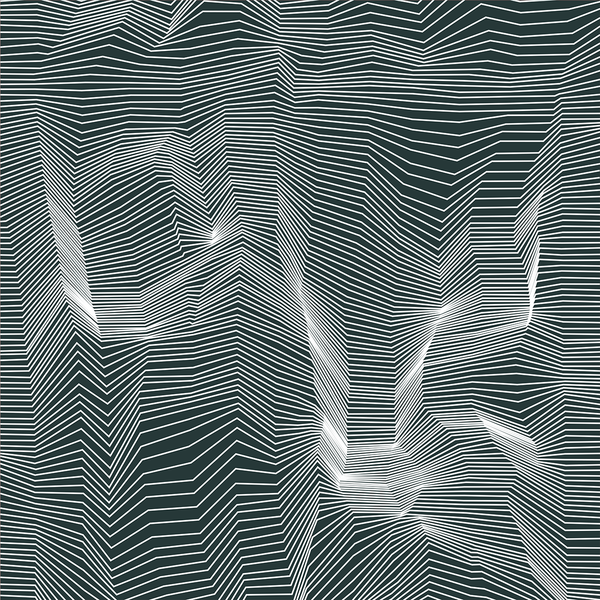 Crinkle - Wireframe - Trendy Custom Wallpaper | Contemporary Wallpaper Designs | The Detroit Wallpaper Co.