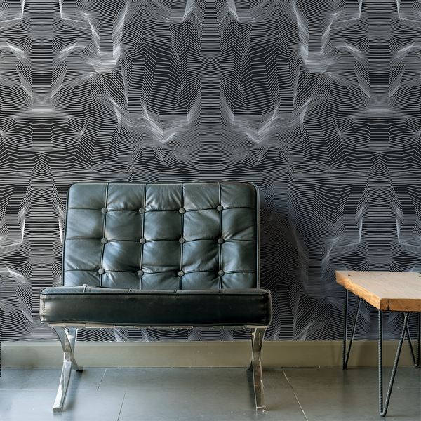 Crinkle - X-Ray - Trendy Custom Wallpaper | Contemporary Wallpaper Designs | The Detroit Wallpaper Co.