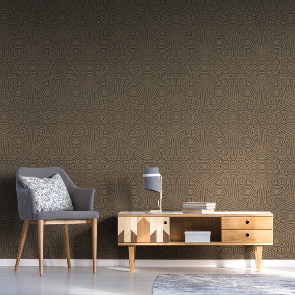 Crystalline - Cardboard - Trendy Custom Wallpaper | Contemporary Wallpaper Designs | The Detroit Wallpaper Co.
