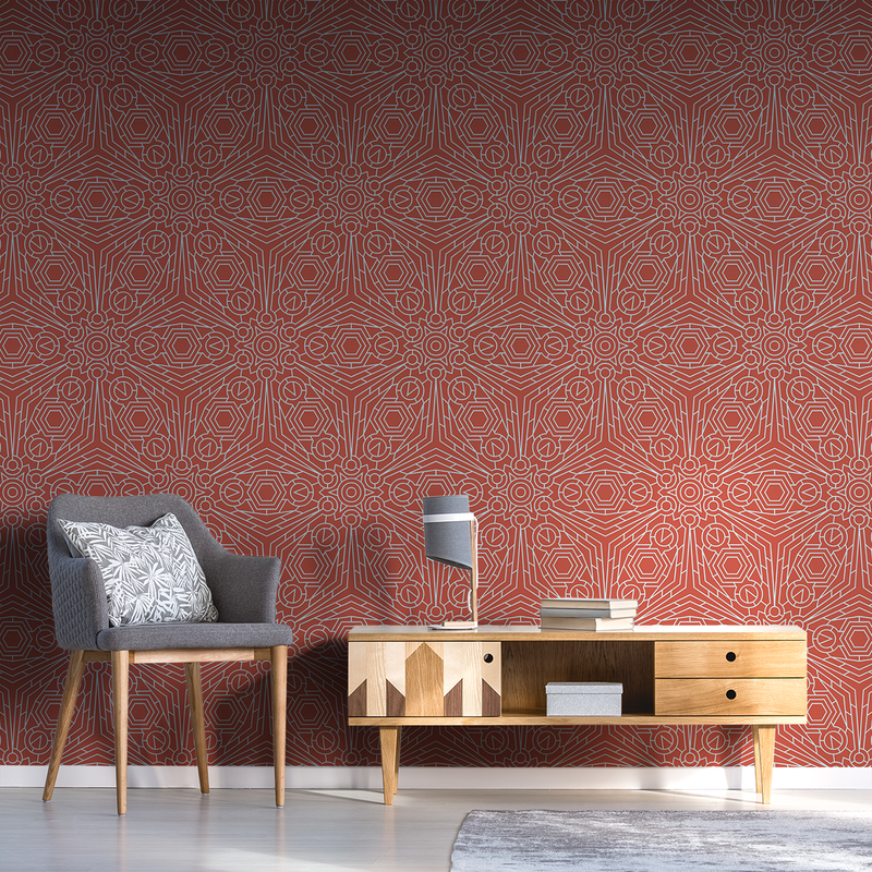 Crystalline - Tension - Trendy Custom Wallpaper | Contemporary Wallpaper Designs | The Detroit Wallpaper Co.