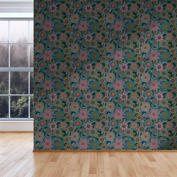 Deco Garden - Nocturn - Trendy Custom Wallpaper | Contemporary Wallpaper Designs | The Detroit Wallpaper Co.