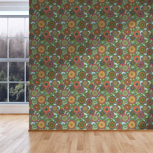 Deco Garden - Sky - Trendy Custom Wallpaper | Contemporary Wallpaper Designs | The Detroit Wallpaper Co.