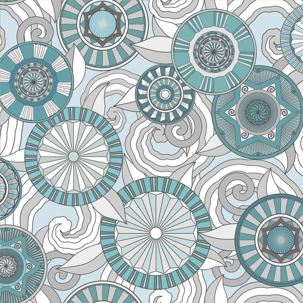 Deco Garden - Turquoise - Trendy Custom Wallpaper | Contemporary Wallpaper Designs | The Detroit Wallpaper Co.