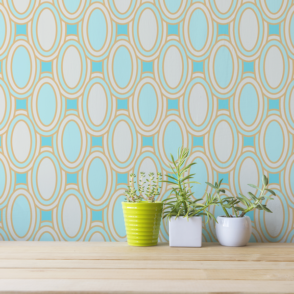 Deco Loops - Abaco <br> Victoria Larson - Trendy Custom Wallpaper | Contemporary Wallpaper Designs | The Detroit Wallpaper Co.