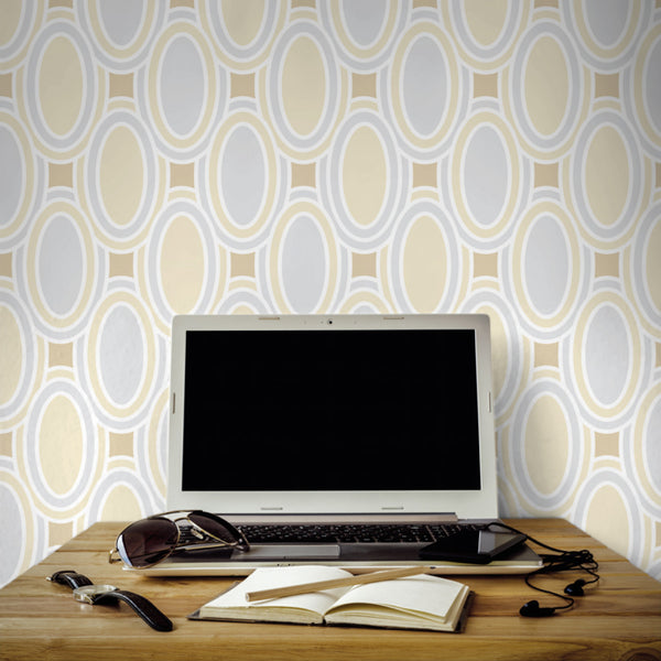 Deco Loops - Barbarossa <br> Victoria Larson - Trendy Custom Wallpaper | Contemporary Wallpaper Designs | The Detroit Wallpaper Co.
