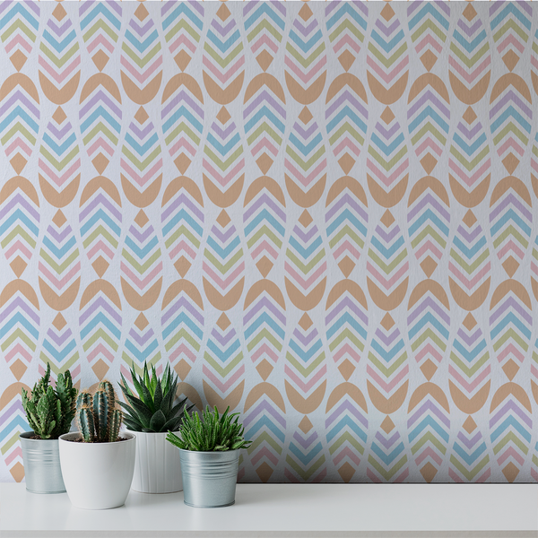 Deep V - Betty - Trendy Custom Wallpaper | Contemporary Wallpaper Designs | The Detroit Wallpaper Co.