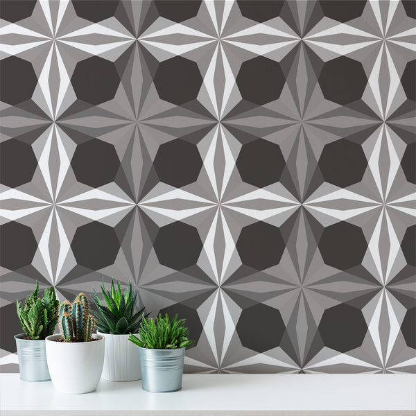 Delight - Smoke - Trendy Custom Wallpaper | Contemporary Wallpaper Designs | The Detroit Wallpaper Co.