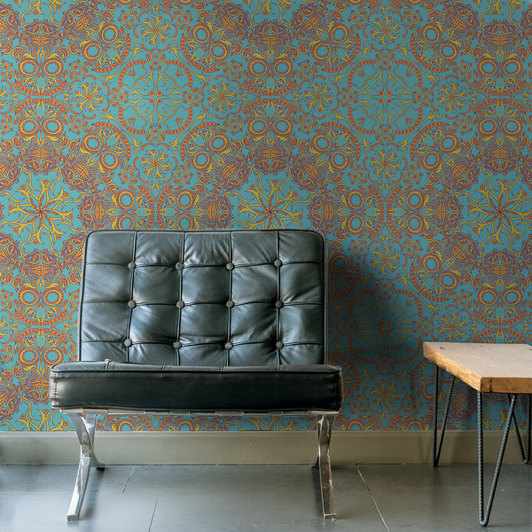 Dia de los Muertos - Calaca - Trendy Custom Wallpaper | Contemporary Wallpaper Designs | The Detroit Wallpaper Co.